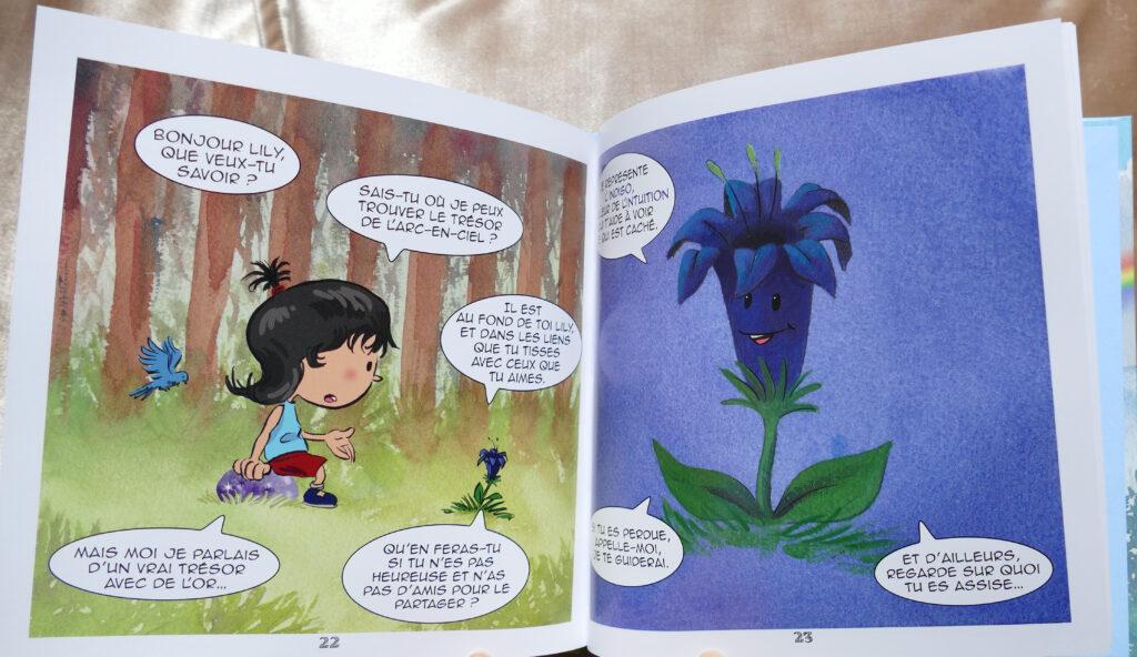Livre enfants fleurs